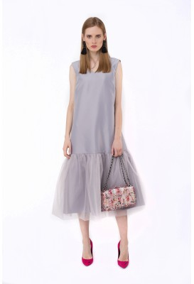 Grey long dress Alice
