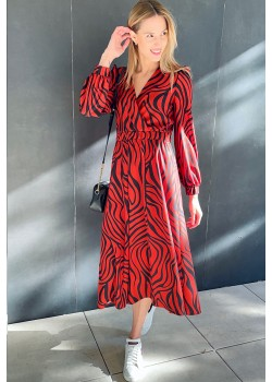 Zebra print long dress Samanta