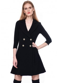 Black jacket dress