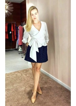 Blue chanel style skirt