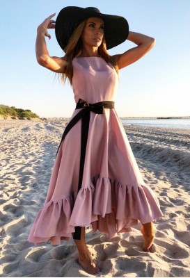 Dusty pink long dress JOLIE