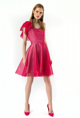Fuchsia pink dress Izabela mini