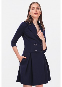 Blue jacket dress