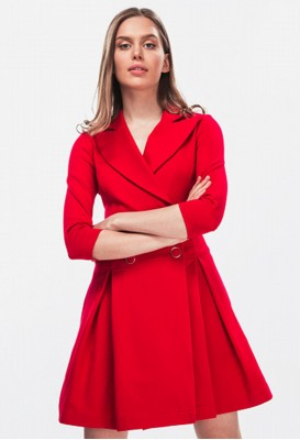 Red jacket dress